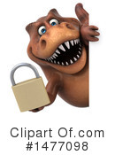Brown Trex Clipart #1477098 by Julos