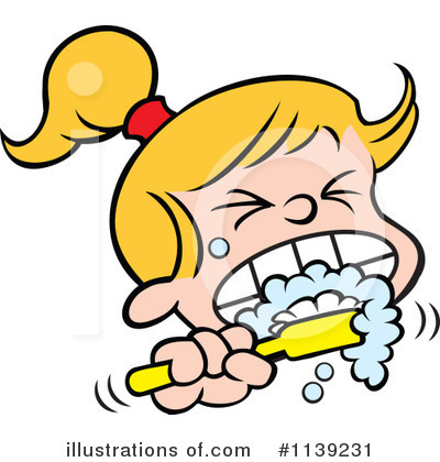 Brushing Teeth Clipart #1139231 by Johnny Sajem