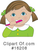 Brushing Teeth Clipart #16208 by Maria Bell