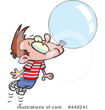 Royalty-Free (RF) Bubble Gum Clipart Illustration by toonaday - Stock Sample #440241