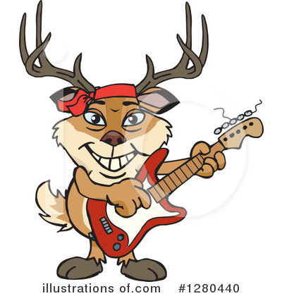 Royalty-Free (RF) Buck Clipart Illustration by Dennis Holmes Designs - Stock Sample #1280440