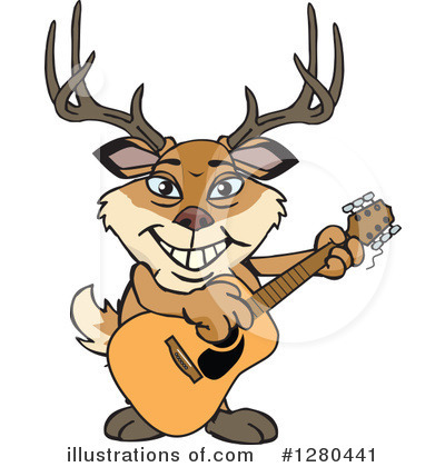 Buck Clipart #1280441 by Dennis Holmes Designs