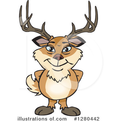Deer Clipart #1280442 by Dennis Holmes Designs