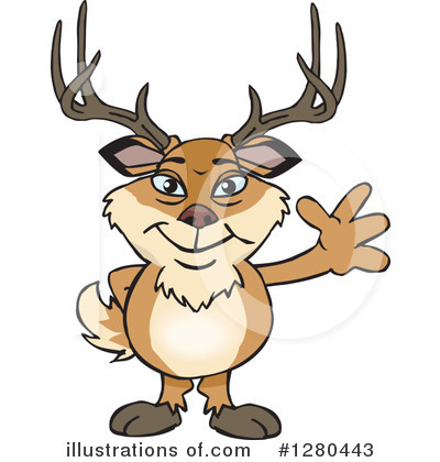 Deer Clipart #1280443 by Dennis Holmes Designs