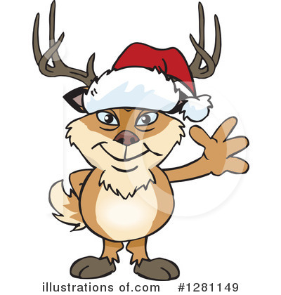 Deer Clipart #1281149 by Dennis Holmes Designs