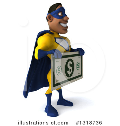 Yellow And Blue Super Hero Clipart #1318736 by Julos