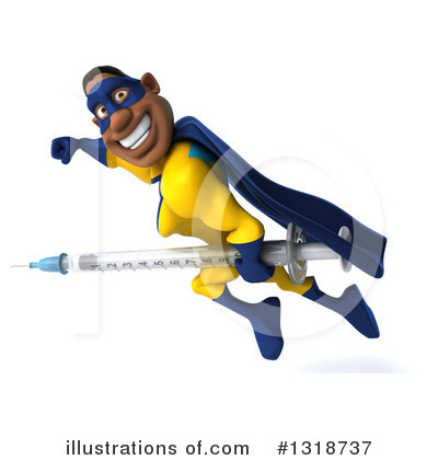 Yellow And Blue Super Hero Clipart #1318737 by Julos