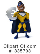 Buff Black Yellow And Blue Super Hero Clipart #1335793 by Julos