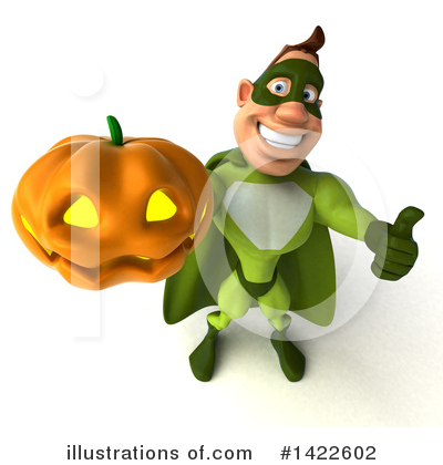 Royalty-Free (RF) Buff Green Super Hero Clipart Illustration by Julos - Stock Sample #1422602