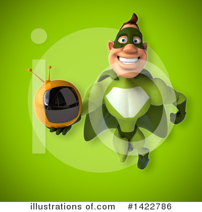 Buff Green Super Hero Clipart #1422786 by Julos