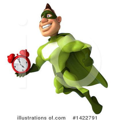 Buff Green Super Hero Clipart #1422791 by Julos