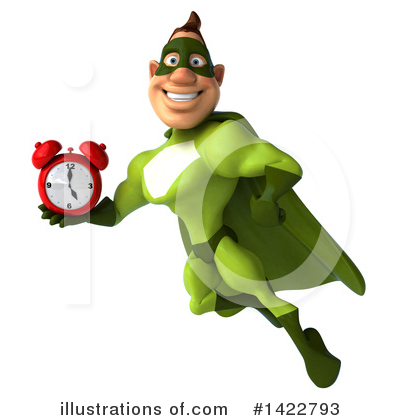 Buff Green Super Hero Clipart #1422793 by Julos