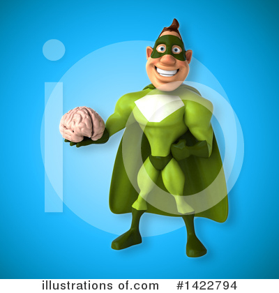 Buff Green Super Hero Clipart #1422794 by Julos