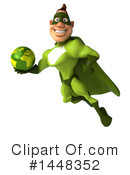 Buff Green Super Hero Clipart #1448352 by Julos