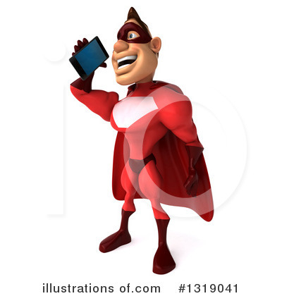 Red Super Hero Clipart #1319041 by Julos
