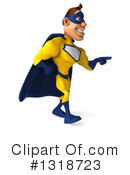 Buff White Yellow And Blue Super Hero Clipart #1318723 by Julos
