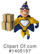 Buff Yellow And Blue Super Hero Clipart #1405197 by Julos