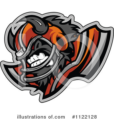 Football Clipart #1122128 by Chromaco