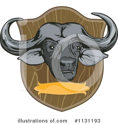 Water Buffalo Clipart #1131193 by patrimonio