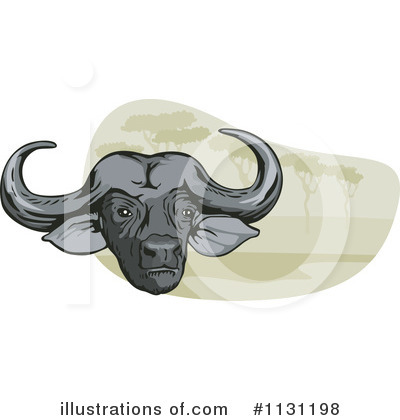 Water Buffalo Clipart #1131198 by patrimonio