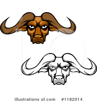 Bull Clipart #1182014 by Vector Tradition SM