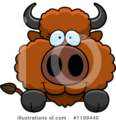 Royalty-Free (RF) Buffalo Clipart Illustration by Cory Thoman - Stock Sample #1199440