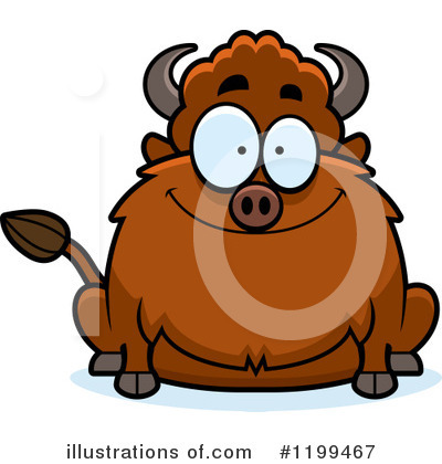 Buffalo Clipart #1199467 by Cory Thoman