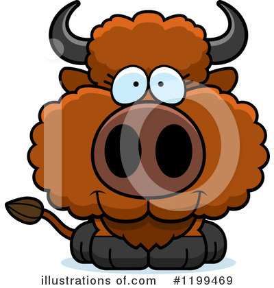 Buffalo Clipart #1199469 by Cory Thoman