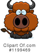 Royalty-Free (RF) Buffalo Clipart Illustration #1199469