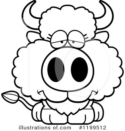 Royalty-Free (RF) Buffalo Clipart Illustration by Cory Thoman - Stock Sample #1199512