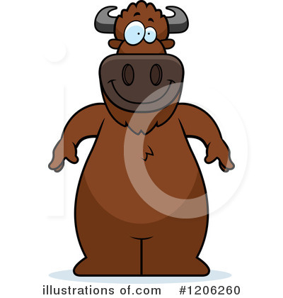 Buffalo Clipart #1206260 by Cory Thoman