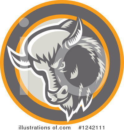Buffalo Clipart #1242111 by patrimonio
