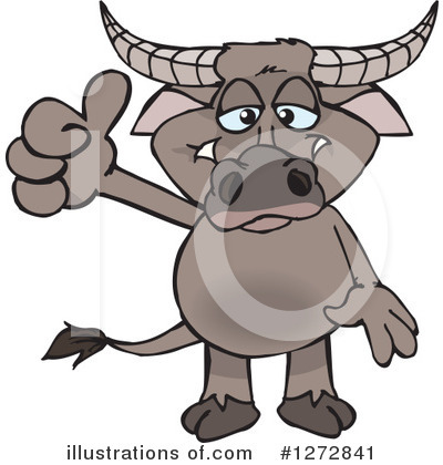 Water Buffalo Clipart #1272841 by Dennis Holmes Designs