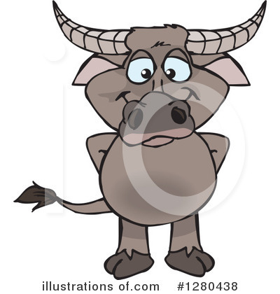 Water Buffalo Clipart #1280438 by Dennis Holmes Designs