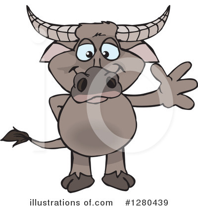 Water Buffalo Clipart #1280439 by Dennis Holmes Designs
