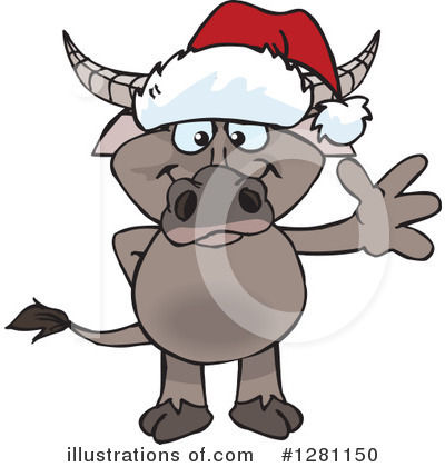 Water Buffalo Clipart #1281150 by Dennis Holmes Designs