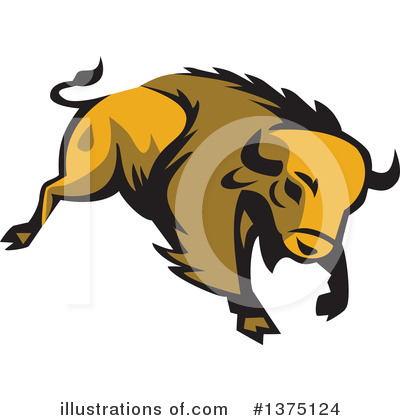 Royalty-Free (RF) Buffalo Clipart Illustration by patrimonio - Stock Sample #1375124