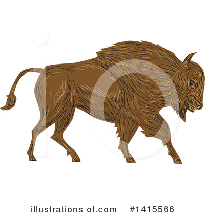 Buffalo Clipart #1415566 by patrimonio