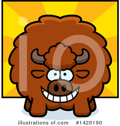 Buffalo Clipart #1420190 by Cory Thoman