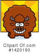 Royalty-Free (RF) Buffalo Clipart Illustration #1420190