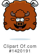 Royalty-Free (RF) Buffalo Clipart Illustration #1420191