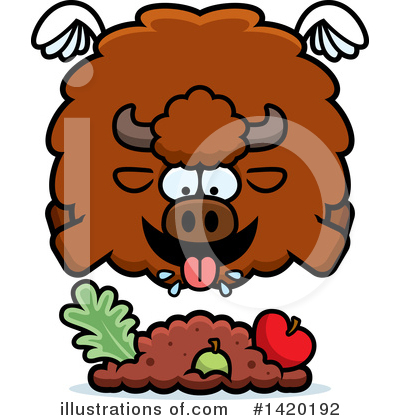 Buffalo Clipart #1420192 by Cory Thoman