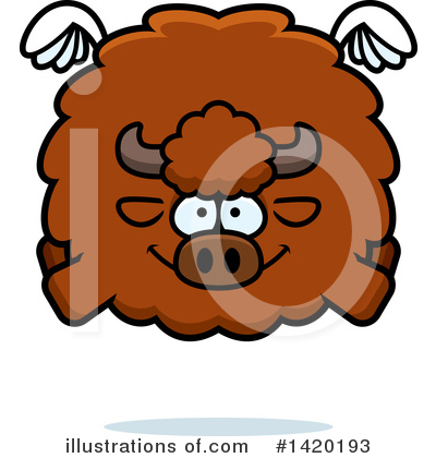 Buffalo Clipart #1420193 by Cory Thoman