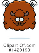 Royalty-Free (RF) Buffalo Clipart Illustration #1420193
