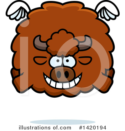 Buffalo Clipart #1420194 by Cory Thoman