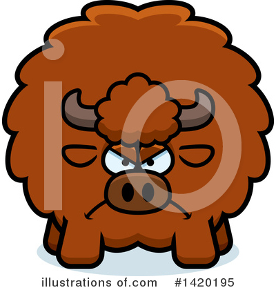 Buffalo Clipart #1420195 by Cory Thoman