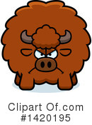 Royalty-Free (RF) Buffalo Clipart Illustration #1420195