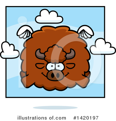 Buffalo Clipart #1420197 by Cory Thoman