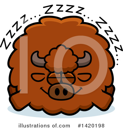 Buffalo Clipart #1420198 by Cory Thoman