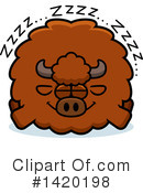 Royalty-Free (RF) Buffalo Clipart Illustration #1420198